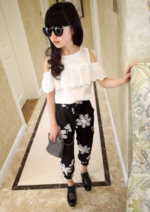 a2fe5553b031fb Модний комплект на літо, штани+блузка для дівчаток - Інтернет-магазин  дитячого та