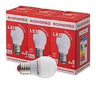 Светодиодные лампы Economka LED G45 6W СУПЕРПАК 3шт E27-2800К