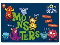 Килимок для творчості YES Monsters пластиковий 42,5 х 29