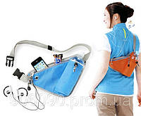 Поясная сумка для бутылки воды во время бега и активного отдыха