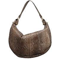 Женская сумка из кожи питона (PT 828 Grey)