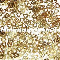Металлические сердечки для украшения ногтей