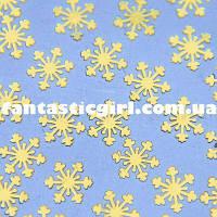 Металлические снежинки для украшения ногтей