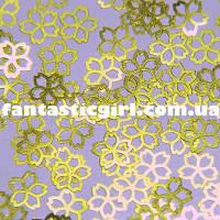 Металлические цветочки для украшения ногтей