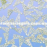 Металлические елочки для украшения ногтей