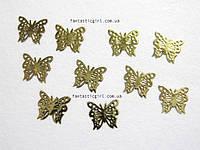 Металлические бабочки для украшения ногтей