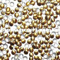 Металлические золотые кнопочки для украшения ногтей