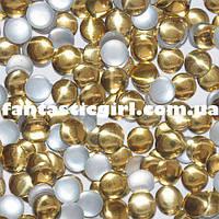 Металлические золотые круги для украшения ногтей
