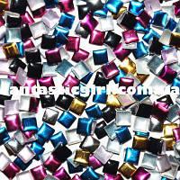 Металлические цветные квадраты для украшения ногтей