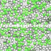Металлические флюоресцентные ярко-зеленые кнопочки для украшения ногтей
