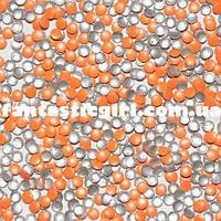 Металлические флюоресцентные оранжевые кнопочки для украшения ногтей