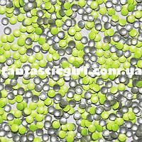 Металлические флюоресцентные неоново-желтые кнопочки для украшения ногтей