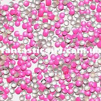 Металлические флюоресцентные ярко-розовые кнопочки для украшения ногтей