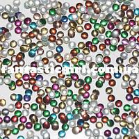 Металлические разноцветные перламутровые кнопочки для украшения ногтей