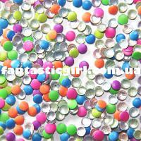 Металлические флюоресцентные цветные кнопочки (светятся в УФ)