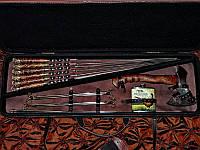 """Подарочный набор """"Престиж"""" (шампура, топорик, фляга, походный мангал) (наличие уточняйте)"""