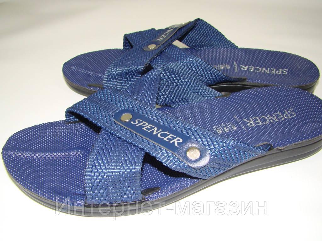 Мужские шлепанцы Spencer (42р) Турция код 7022 цвет синий