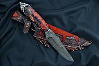 """Охотничий нож ручной работы """"Шаман"""", дамасск (наличие уточняйте)"""