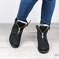 Ботинки женские ботильоны Balmain Black ЗИМА, полуботинки женские, обувь дропшиппинг
