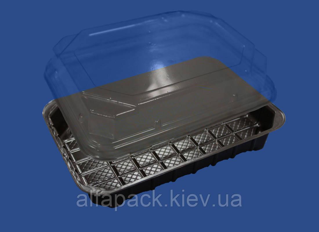 Упаковка для суши ПС-61Д + ПС-61К, 278*195*40