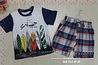 Футболка и шорты рисунок Серфинг для мальчика размер 2,4 лет