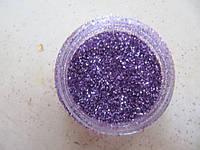 """Украшение для дизайна ногтей """"Песок"""", цвет фиолетовый, фото 1"""