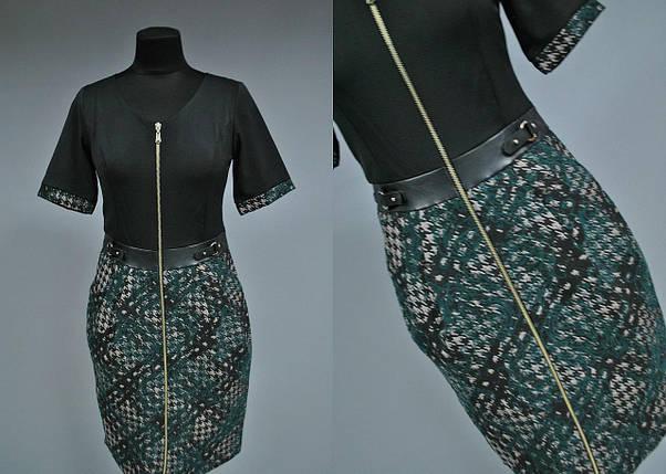 Женское платье с поясом отделки из Экокожи Турция 44 размер, фото 2
