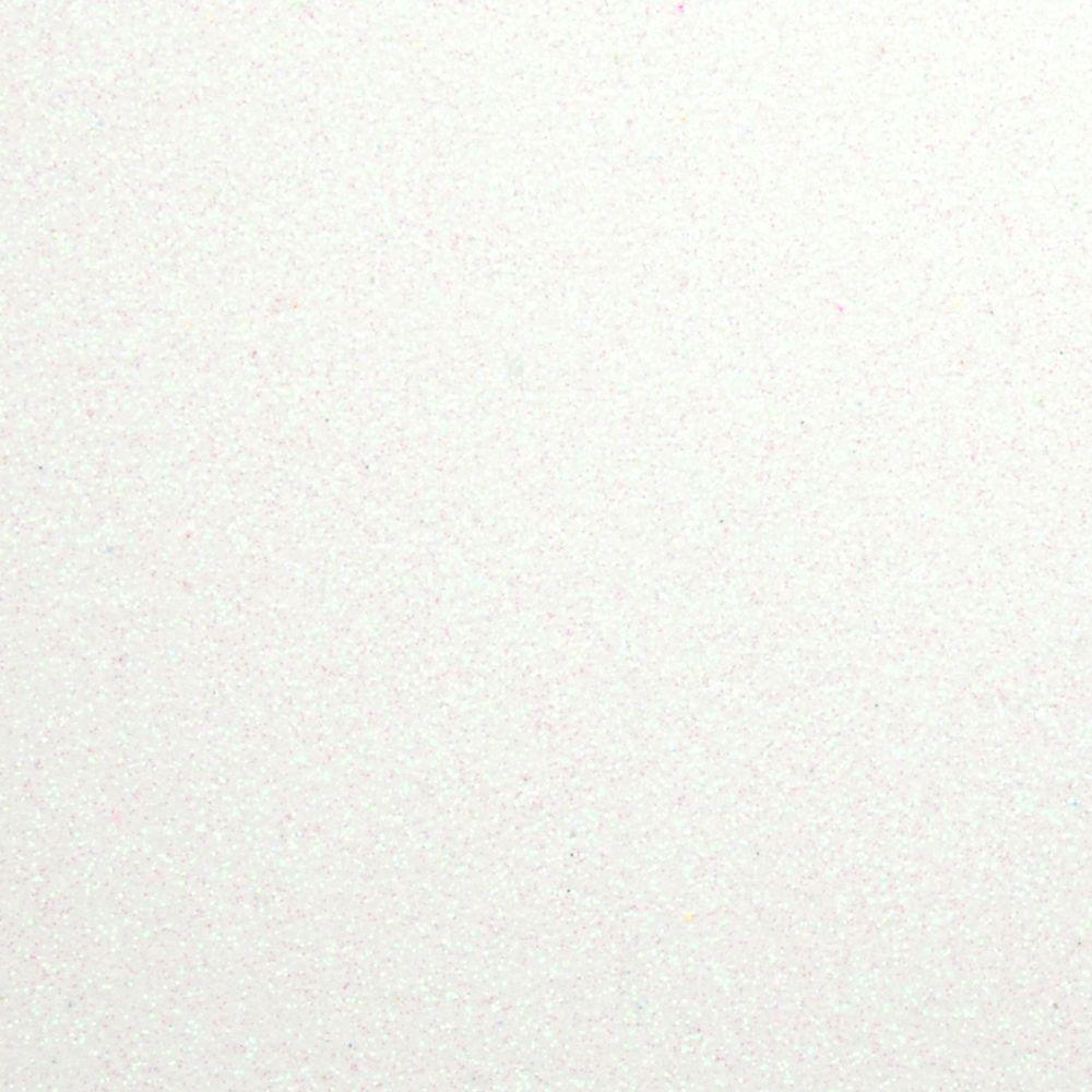 Фоамиран з глітером 2 мм, 20x30 см, Китай, БІЛИЙ ПЕРЛАМУТР