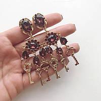 Серьги женские Dolce Key бордо, женские сережки