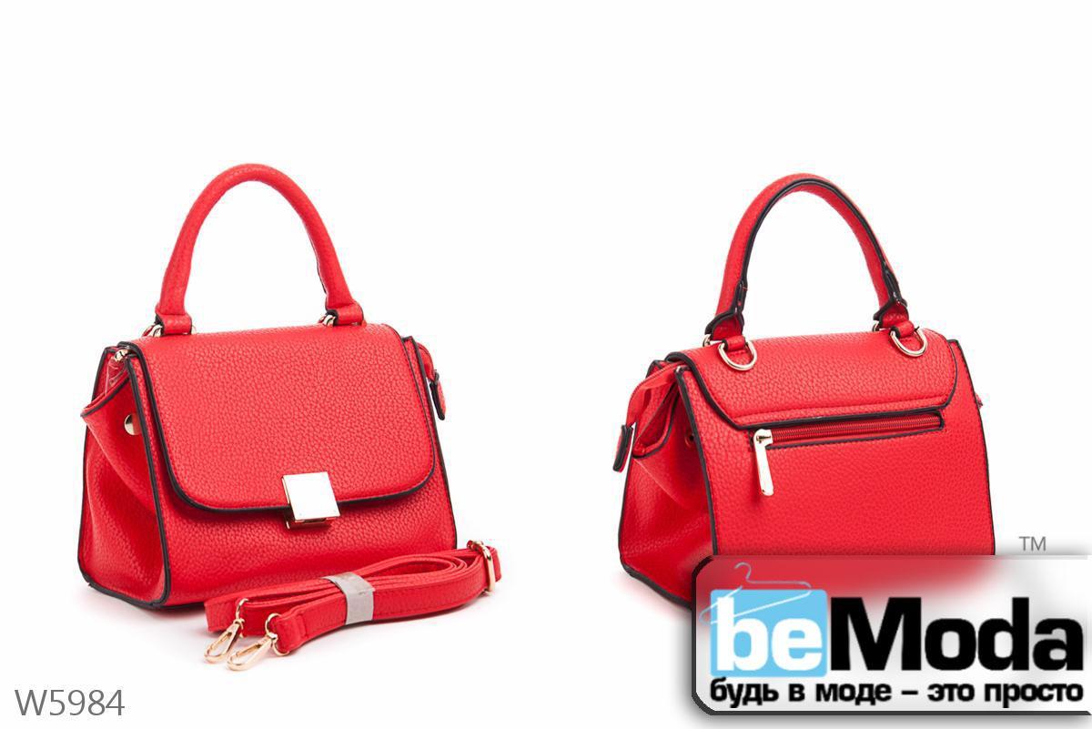 Элегантная женская каркасная сумка Little Pigeon red иэ экокожи с портфельным замком красная - Модная одежда, обувь и аксессуары интернет-магазин BeModa.com.ua в Белой Церкви