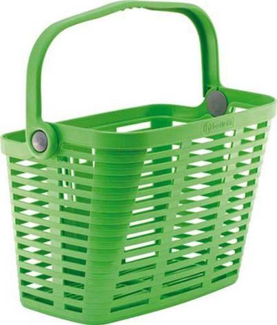 Корзина на руль Bellelli PLAZA пластиковая зеленая, фото 2