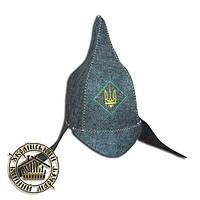 """""""Буденовка с гербом"""", шапка для бани (эконом)"""