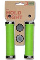 Грипсы Green Cycle GC-G211 130mm зеленый с двумя черными замками
