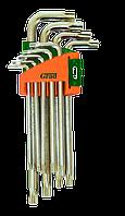 Ключі torx 9шт T10-T50мм CrV (короткі з отвором)