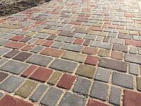 Тротуарная плитка Старый город 40мм Серая и Цветная