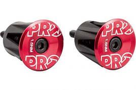 Вставки в руль PRO (пара), анодированные, красные