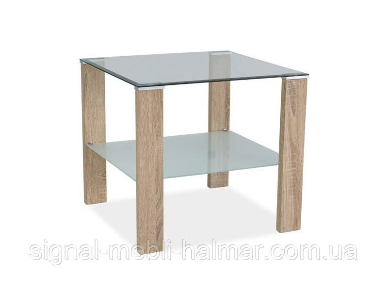 Журнальный столик Karina D стеклянный SIGNAL(два цвета)