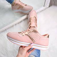 Кроссовки женские Rexha пудра  , спортивная обувь