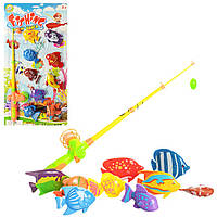 Развивающая игра рыбалка Fishing Funny Games 2493: удочка с магнитом + 9 рыбок