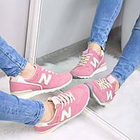 Кроссовки женские New Balance розовые Замша, спортивная обувь