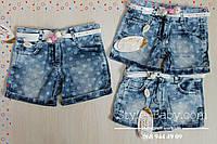 Джинсовые шорты на девочку в белый горох размер 1,2,3,4 лет