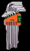 Ключі шестигранні 9шт 1,5-10 мм CrV (короткі)