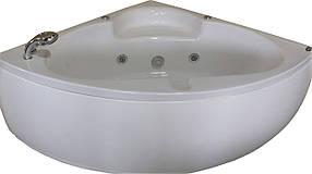 Ванна APPOLO угловая с гидромассажем и пневмокнопкой 1400*1400*620 мм, со смесителем