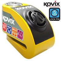 Вело/мотозамок Kovix KDL6-BK с сигнализацией