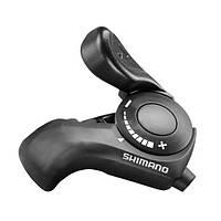 Шифтер Shimano SL-TX30 левый 3-скор. (без индексов) + тросик, черн