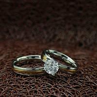 """Парные кольца из нержавеющей медицинской стали """"Ты и Я"""" (жен. 16.5 17.3 18.2 19.0 муж. 16.5 17.3 18.2 19.0 размеры в наличии)"""
