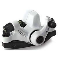 Тормоз задний дисковый механ. Tektro Novela в комплекте с ротором 160мм+калипер+болты белый