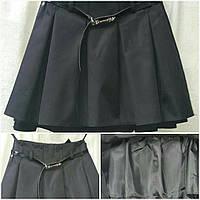 Синяя девичья юбка в школу, 36-44 р-ры, 235/175 (цена за 1 шт. + 60 гр.)