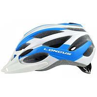 Шлем Longus AVIAX InMold бел/синий, сетка, размер S/M, 54-58см