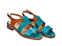 Босоніжки Etor 6083-10485-12716 блакитний+рудий, фото 1